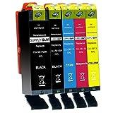 Supply Guy 5 Druckerpatronen XXL mit Chip kompatibel mit Canon PGI-580 CLI-581 für Pixma TR7500 TR7550 TR8550 TS6100 TS6150 TS6151 TS6250 TS6251 TS6350 TS6351 TS705 TS9540 TS9541c TS9550 TS9551c