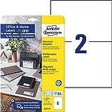AVERY Zweckform 3655-10 Universal Etiketten (20 Adressaufkleber, 210x148mm auf A4, bedruckbare Versandetiketten, selbstklebende Klebeetiketten mit ultragrip, DHL, fürs HomeOffice) 10 Blatt, weiß