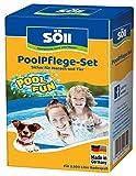Söll 20174 PlanschbeckenPflege-Set AquaDes AlgenFrei je 250 ml - zuverlässige Wasserreinigung Poolpflege reinigt & desinfiziert Badewasser, ideal für Planschbecken Kinderpool Whirlpool Hundepool