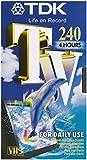 TDK VHS Videokassette TV-240 (240 Minuten Laufzeit) 1 Stück