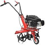 HECHT Benzin-Gartenfräse 746 Motorhacke Kultivator Bodenhacke Bodenfräse Fräse (Motorleistung: 3,7 kW (5,0 PS), 36 oder 60cm Arbeitsbreite, 6 Kreisel mit je 4 Zinken)