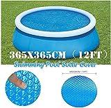 DIF Multiple Choice Easy Set Schwimmpaddel Planenschutz für Bodenplanen, Bodenschutz für Schwimmbecken, für schnell und schnell eingestellte Pools, 365 x 365 cm (12 Fuß), blau