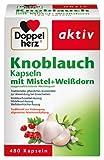 Doppelherz Knoblauch-Kapseln mit Mistel, und Weißdorn, 4er Pack (4 x 480 Kapseln)