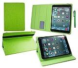 Emartbuy® PADGENE 9 Zoll 3G Phablet Tablet PC Universal ( 9 - 10 Zoll ) Grün PremiumPULederMulti-AngleExekutiveFolioGeldbörseTascheHülle Grün InnenraummitKartensteckplätze + Grün Eingabestift