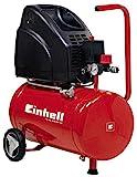 Einhell TH-AC 200/24 OF Kompressor (1.100W, 140 l/min Ansaugl., 24l Kessel, 8bar max. Betriebsdruck, öl- und wartungsfrei, Druckminderer, Manometer)