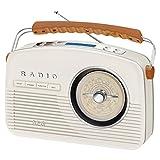 AEG NDR 4156 Retro-Digitalradio DAB+ 20 Senderspeicher Netz-und Batteriebetrieb Creme