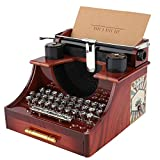 Dibiao Geburtstag Geschenk Vintage Schreibmaschine Stil Mechanische Musik Box Geschenk Schmuck Box...