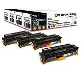 4 Original Reton Toner kompatibel zu 718 718K 718C 718M 718Y für Canon LBP-7200CDN Canon LBP-7210CDN Canon i-Sensys MF-8550 CDN Canon i-Sensys MF-8580 CDW