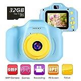 vatenick Kinder Digital Kamera Spielzeug Kleinkind Kamera Spielzeug 2 Zoll HD-Bildschirm 1080P 32 GB...