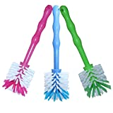 24now 3er Pack Mixtopf Spülbürste mit Nylonborsten - ideal zum Reinigen von Mixtöpfen wie z.B. Thermomix ® TM5/TM31 und Mixtöpfe Anderer Hersteller - je 1x in Blau/Grün/Pink