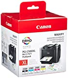 Canon Tintenpatronen PGI-2500 XL Multipack - (schwarz cyan magenta gelb) ORIGINAL für MAXIFY Drucker