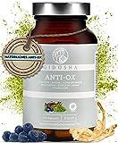 QIDOSHA® Antioxidantien² und Haut³ Komplex zum Zellschutz, hochdosiert, 100% natürlich mit Alpha-Liponsäure, Cordyceps, Matcha, Quercetin, Brahmi
