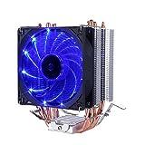 upHere 4 Heatpipes Prozessorkühler mit 92 mm PWM Lüfter - CPU Kühler für AMD und Intel Sockel bis Kühlleistung - Multkompatibel- Mit voraufgetragener MX-4 Wärmeleitpaste Blau,C9B
