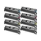 8 Toner kompatibel für Canon EP87 LBP 87 2410-7433A003-7430A003 - Schwarz je 5000 Seiten, Color je 4000 Seiten