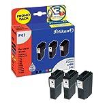 Pelikan Druckpatronen PromoPack C24 ersetzt Canon BCI-24BK/BCI-24C, 2xBK PIG/3-color