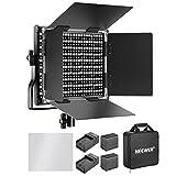 Neewer dimmbares Bi-Farbe LED Video Leuchte für Kamera Fotostudio Youtube Video Aufnahme (LED(Schwarz)+Batterie/Ladegerät)