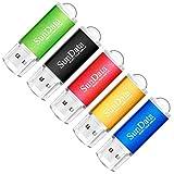 SunData USB Stick 32GB 5 Stück USB 2.0 Speicherstick Flash-Laufwerk Memory Stick (5 Mischfarben: Schwarz, Blau, Grün, Rot, Gold)