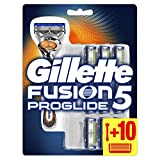 Gillette Fusion 5 ProGlide Rasierer Herren mit Trimmerklinge für Präzision und Gleitbeschichtung, Rasierer + 10 Rasierklingen (Verpackung kann variieren)