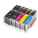 ESMOnline 5 kompatible XXL Druckerpatronen (5 Farben) als Ersatz für Canon PGI-580/CLI-581