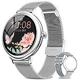 NAIXUES Smartwatch Damen, Fitness Tracker IP67 Wasserdicht, Fitnessuhr mit Aktivitätstracker Pulsuhr Stoppuhr Schlafmonitor Schrittzähler Uhr, Smartwatch für Android iOS