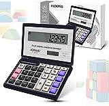 Iadong Taschenrechner, 12-stellig Standard Function Tischrechner Bürorechner Rechenmaschine Solar-...