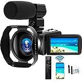 Camcorder 4K 48MP Videokamera 18X WiFi YouTube Kamera IR Nachtsicht Camcorder mit verbesserter...