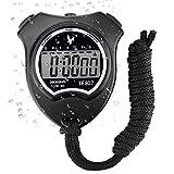 Digital Sport Stoppuhr Timer, Handheld Chronograph Digital Uhren Stoppuhr mit Wecker/Kalender für...