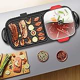 BDHBB Elektrogrill, Indoor Korean Grill, tragbare elektrischer Grill BBQ, Multifunktional mit Mandarinen-Enten-Pot, elektrischem Smokeless Grill, Innen und Außen
