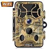 Campark WLAN Wildkamera 20MP 1296P, WiFi mit Bewegungsmelder Nachtsicht Wildlife Jagdkamera,...