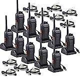Retevis RT27 PMR Funkgeräte Set, 16 Kanäle Funkgerät mit Headset, Walkie Talkie Lizenzfrei mit USB Ladeschale, CTCSS/DCS VOX Notanruf, Funkgeräte für Sicherheitsdienst, Schule (10 Stück, Schwarz)