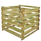 vidaXL Holz Komposter Kompostbehälter Holzlatten quadratisch 0,54 m3