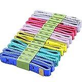 Weiche Maßband,BESTZY 12 Stück Tuch Maßband 150cm maßband schneider für Nähen Tuch Herrscher Messwerkzeug (Zufällige Farbe)