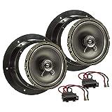 tomzz Audio 4057-004 Lautsprecher Einbau-Set passend für VW Golf 5 V Passat 3G Touran Caddy Tür vorne 165mm Koaxial System TA16.5-Pro