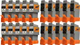 Start - 20 Ersatz Patronen kompatibel zu BCI-21 / BCI-24, Schwarz, Colour für Canon Pixma iP1000, iP1500, iP2000, MP110, MP130, MP390, i250, i255, i320, i350, i355, i450, i455, i470D, i475D, Smartbase MP360, MP370, MP375R, MP390, MPC190, MPC200, Pixus 320i, 455i, 475PD, MP10, MP360, MP370, MP375R, MP390, MP5, imageClass MPC190, MPC200, S200, S210, S300, S330, S330 Photo, Multipass F20, MP360, MP370