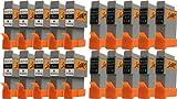 Start-Europe - 20 Ersatz Patronen kompatibel zu BCI-21 / BCI-24, Schwarz, Colour für Canon Pixma iP1000, iP1500, iP2000, MP110, MP130, MP390, i250, i255, i320, i350, i355, i450, i455, i470D, i475D, Smartbase MP360, MP370, MP375R, MP390, MPC190, MPC200, Pixus 320i, 455i, 475PD, MP10, MP360, MP370, MP375R, MP390, MP5, imageClass MPC190, MPC200, S200, S210, S300, S330, S330 Photo, Multipass F20, MP360, MP370