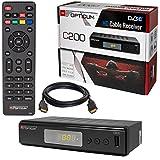 Kabel Receiver Kabelreceiver - DVB-C HB-DIGITAL Set: Opticum HD C200 Receiver für digitales Kabelfernsehen (HDMI, SCART, USB 2.0, Mediaplayer) + HDMI Kabel