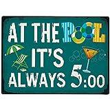 AYily Poolregeln-Schild, Dekoration, lustiges Poolregel-Schild, Schwimmbad-Schild, Warnschild, Pool-Sicherheitsschild, Metallschild für Pool, Party-Dekoration