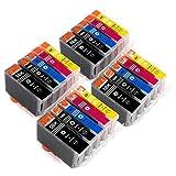 ESMOnline 20 komp. Druckerpatronen als Ersatz für Canon Patronen PGI-5BK / CLI-8BK / CLI-8C / CLI-8M / CLI-8Y