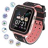 Kinder Smartwatch, Smart Watch Phone mit Musik-Player, SOS, 1,55 Zoll LCD-Touchscreen-Uhr mit...