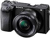 Sony Alpha 6400   APS-C Spiegellose Kamera mit Sony 16-50mm f/3.5-5.6 Power-Zoom-Objektiv ( Schneller 0,02s Autofokus 24,2 Megapixel, 4K-Filmaufnahmen, neigbares Display für Vlogging), Schwarz