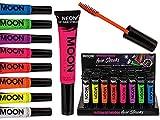 240110 3x Haar Mascara Neon UV 8 Farben, sortiert 3 Stück Haarmascara Haarkreide Haare färben