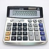 Elektronischer Tischrechner mit 12 Ziffern Großer Display Akku oder Solarstromversorgung Bürorechner