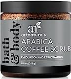 ArtNaturals Kaffee Peeling Scrub - Exfoliator - (8.8 Oz/250ml) - Arabica Coffee Scrub mit Meersalz - Pflegendes Körperpeeling und Gesichtspeeling
