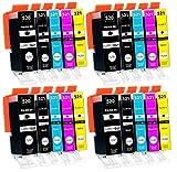 Supply Guy 20 Druckerpatronen mit Chip kompatibel mit Canon PGI-520 CLI-521 für Canon Pixma IP3600 IP4600 IP4700 MP540 MP550 MP560 MP620 MP630 MP640 MX860 MX870