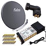 PremiumX Satelliten-Komplettanlage Fuba DAA 850 A Satellitenschüssel Alu Anthrazit 5/12...