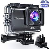Crosstour CT9500 Echte 4K/50fps Action Cam Unterwasserkamera (4K 20MP WiFi Unterwasser 40M...