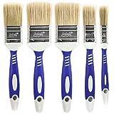 Luigi's Malerpinsel Set für Wände | 5X Synthetikborsten-Pinsel zum Streichen von Wänden, Möbeln und mehr | Großes Flachpinsel Set für Wände | Glanz-, Flecken- und Latex-Pinselset
