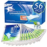 White Stripes 3D Zahnaufhellung mit 56 Streifen gegen Gelbe Zähne Rauchflecken Schwarze Zähne mit Advanced no-slip Technology Bleaching Stripes Kit für Weiße Zähne - von MayBeau