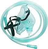 Sauerstoffmaske, TOPQSC Medizinische Sauerstoffmaske mit schlauchanatomischer Schlauchform Geeignet für Sauerstoffgenerator DDT-1A