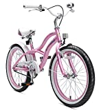 BIKESTAR Premium Sicherheits Kinderfahrrad 20 Zoll für Mädchen ab 6 - 7 Jahre ★ 20er Fahrrad für Kinder Cruiser Kinderrad ★ Pink